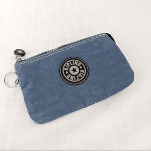 Blue Kipling Multipocket Zip Pouch with Key Ring